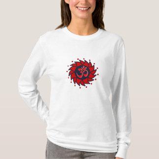 Om and Red Pinwheel - Yoga Hoodie