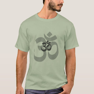 Om Aum grey design for men T-Shirt