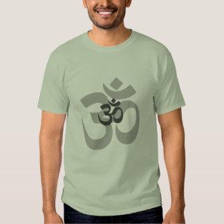 Om Aum grey design for men T-shirts
