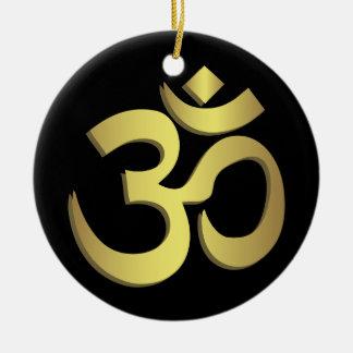 Om ( Aum ) Namaste yoga symbol Christmas Ornament