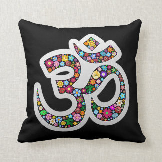 Om Aum Namaste Yoga Symbol pillow