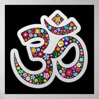 Om Aum Namaste Yoga Symbol posters