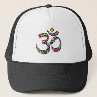 Om Aum Namaste Yoga Symbol Trucker Hat