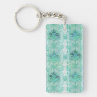 om aum pattern Key Ring