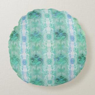om aum pattern Round Cushions
