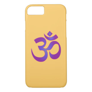 Om Aum Pink and Purple Zen Yoga Meditation Symbol iPhone 7 Case