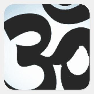 om,aum,sanskrit, mantra, yoga, tantra square sticker