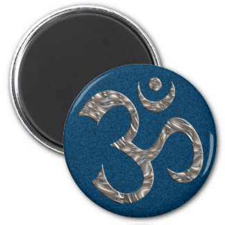 OM / AUM - SILVER MAGNET