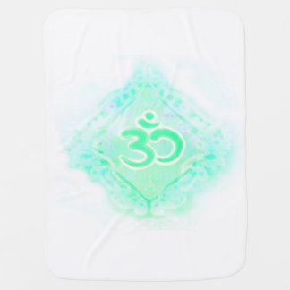 om aum symbol Baby Blanket