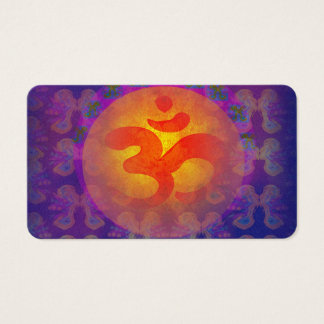 om aum symbol Business Card