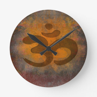 om aum symbol Wall Clock