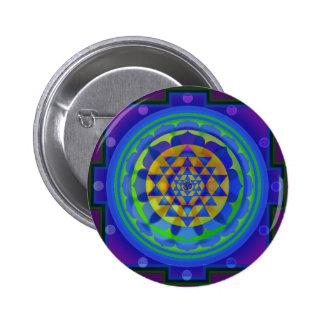 Om (AUM) Yantra mandala 6 Cm Round Badge