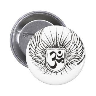 Om 6 Cm Round Badge