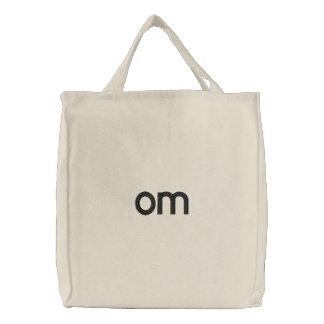 om bag embroidered bag