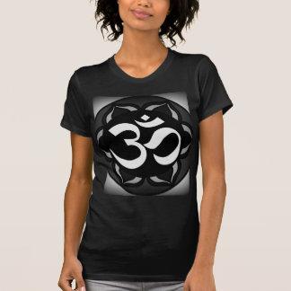 Om Black & White Peace Symbol Tshirts