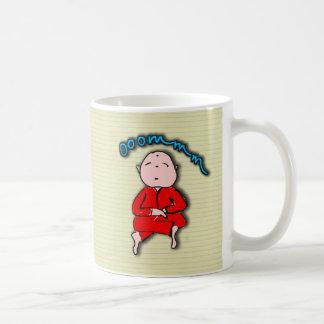 Om Boy in Red Meditation Basic White Mug