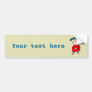 Om Boy in Red Meditation Bumper Sticker