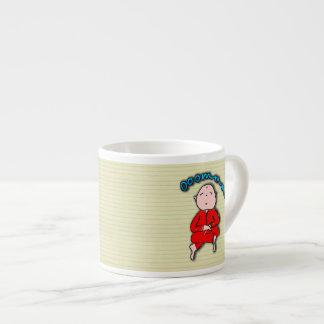 Om Boy in Red Meditation Espresso Mug