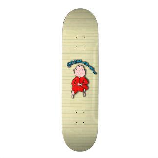Om Boy in Red Meditation Skateboards