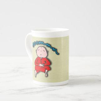 Om Boy in Red Meditation Porcelain Mugs