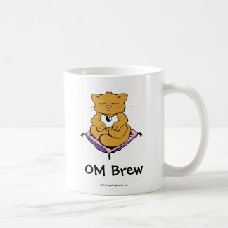 OM Brew Classic White Coffee Mug