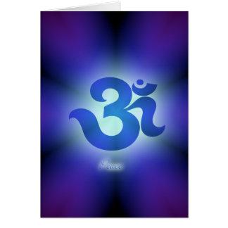 Om card- peace card
