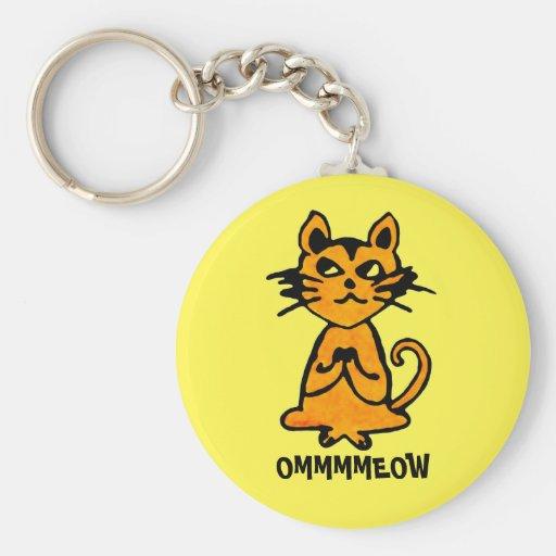 Om Cat Keychain - Funny Yoga Gifts