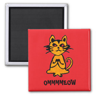 Om Cat Magnet - Funny Yoga Gifts