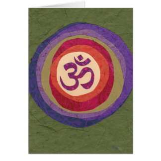 Om for Peace in the New Year Card