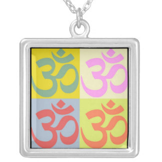 OM - FREEDOM OF SOUL SQUARE PENDANT NECKLACE