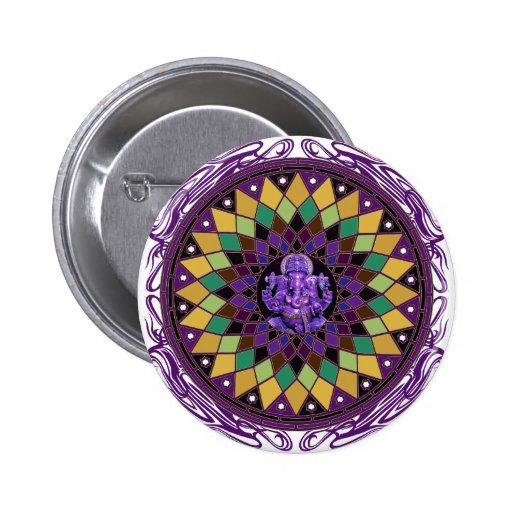 Om Ganesh Mandala Pinback Buttons
