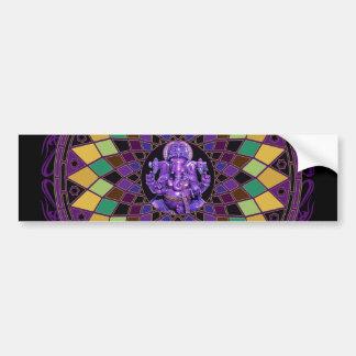 Om Ganesh Mandala Bumper Stickers