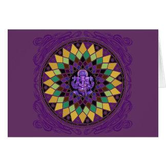 Om Ganesh Mandala Greeting Card