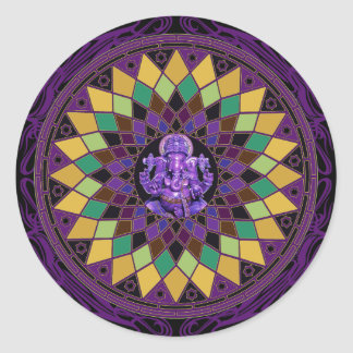 Om Ganesh Mandala Sticker