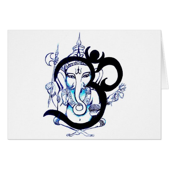 OM  -  Ganesha Card