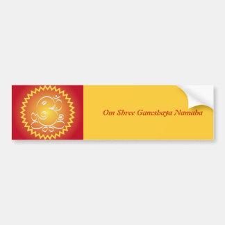 Om Ganesha with yellow star Bumper Sticker