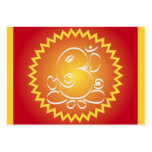 Om Ganesha with yellow star Business Card Template