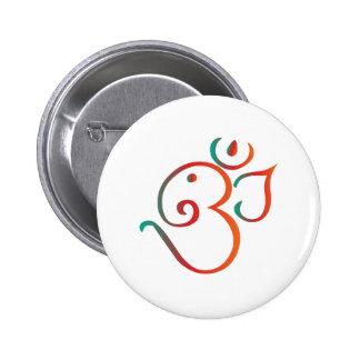 Om-ganpati-green-orange 6 Cm Round Badge