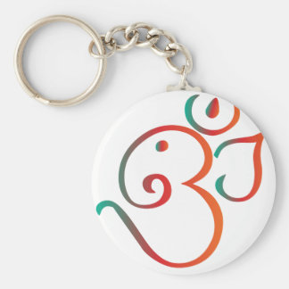 Om-ganpati-green-orange Key Ring