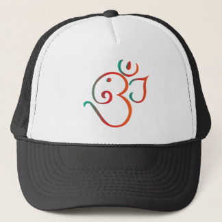 Om-ganpati-green-orange Trucker Hat