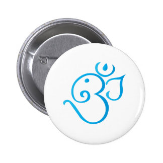 Om-ganpati-turqoise Buttons