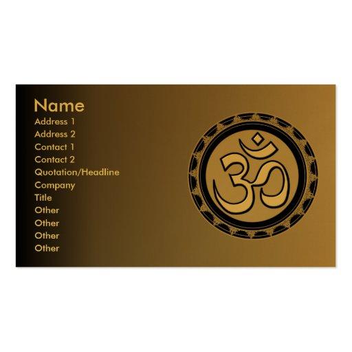 Om Gold Black Business Cards