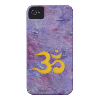 Om gold on purple iPhone 4 Case-Mate case