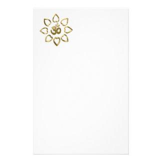 Om golden symbol personalised stationery