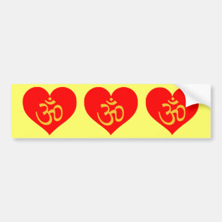 om heart bumper sticker