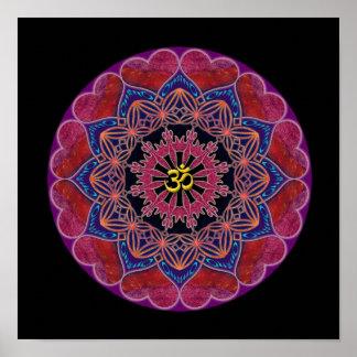 Om Heart Mandala Poster