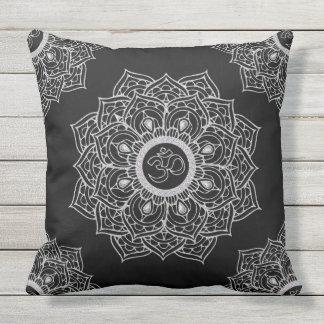 Om Hindu sacred sound symbol Mandala Outdoor Cushion