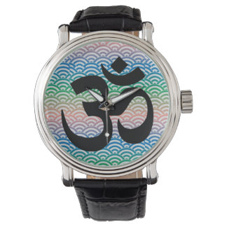 Om in a sea of colorful waves watch