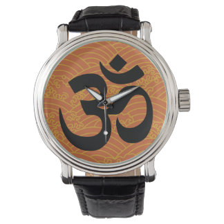 Om in a sea of orange waves watches