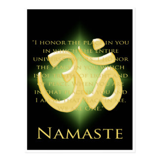 Om in Black & Gold - Namaste Postcard